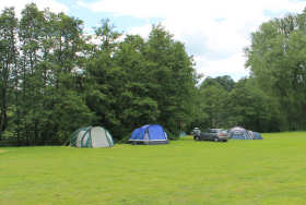 The site at Elmsdale Caravan and Camping, Symonds Yat, Wye Valley, Herefordshire